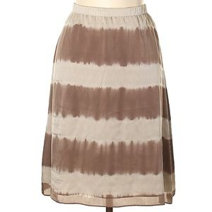 Eileen Fisher silk tie dye style skirt